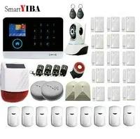 SmartYIBA systeme dalarme GSM sans fil   Android ios APP  systeme de securite a domicile  avec flash solaire sans fil  sirene  camera IP