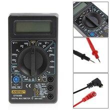 Multímetro digital display lcd voltímetro elétrico amperímetro ohm testador ac/dc testadores medidor digital multímetros proteção contra sobrecarga