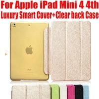 Умный чехол для Apple iPad Mini 5 4 3 2 1, Модный Роскошный кожаный чехол + прозрачный матовый чехол для iPad Mini 4 NO: IM402