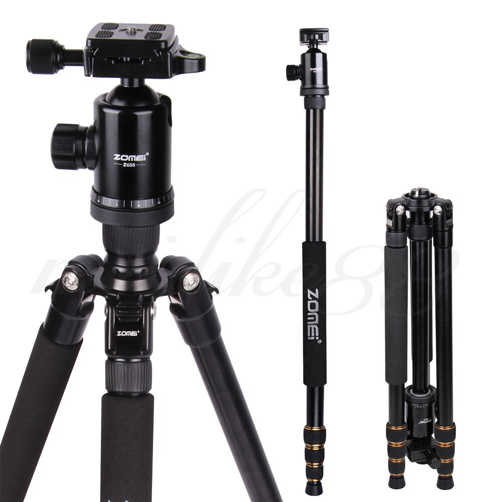Zomei Z688 Aluminum Professional Tripod Monopod + Ball Head For DSLR camera Portable / camera stand