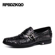 Mocassins en cuir véritable sans lacet printemps conduite noir Alligator hommes décontracté marron chaussures Tan réel luxe offre spéciale automne élégant