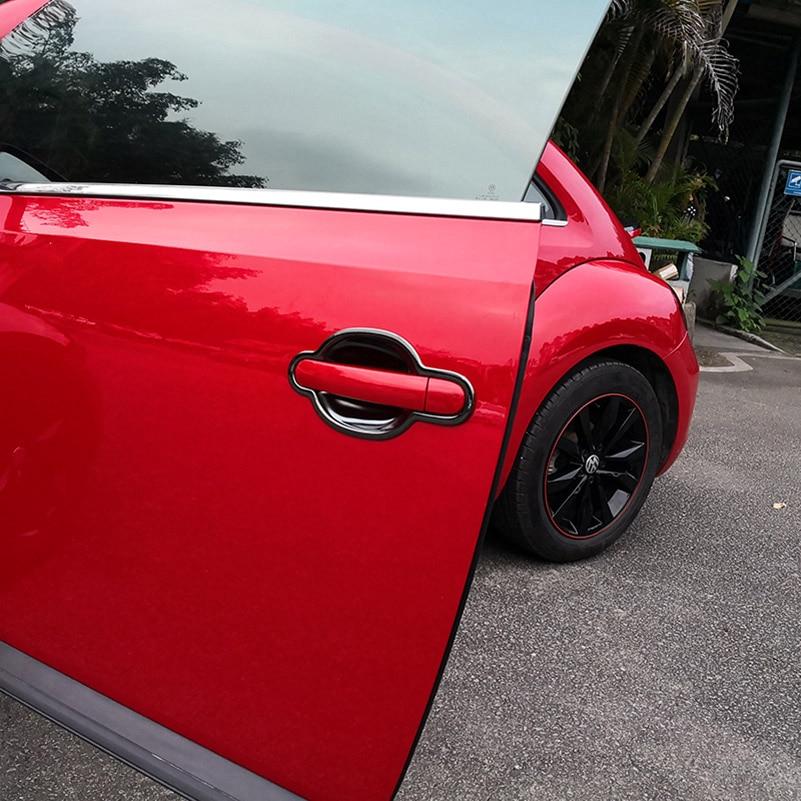 for Volkswagen Beetle 2012-2018 2doors Outer door handle decoration Door wrist Scratch prevention Stainless steel enlarge