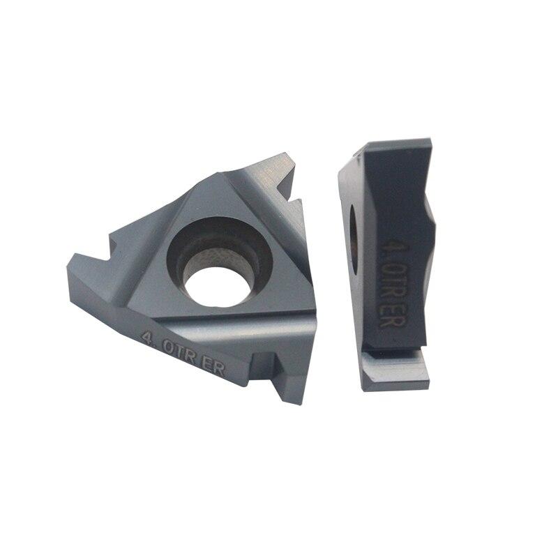 10 Uds 22ER 5TR 6TR   Insertos de carburo de rosca de alta calidad en hoja externa para corte de acero y acero inoxidable