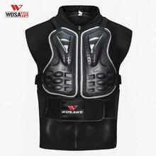 WOSAWE veste de moto armure   Armure Body pour moto, protection du dos de la poitrine, engins de protection dépaule, gilet de moto sans manches pour hommes