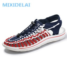 MIXIDELAI Summer Big Size 47 Men Sandals Fashion Handmade Weaving Design Breathable Casual Beach Shoes Outdoor Sandals For Men