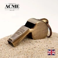 acme 59 5 polished brass fashion trend pendant whistle coach referee laser lettering outdoor survival cheerleading whistle
