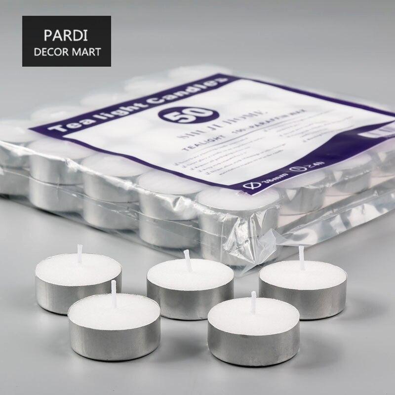 4-4.5 hours no Aromatherapy tea light compacting smokeless pillar candle paraffin wax candle home wedding decoration 50pcs/lot