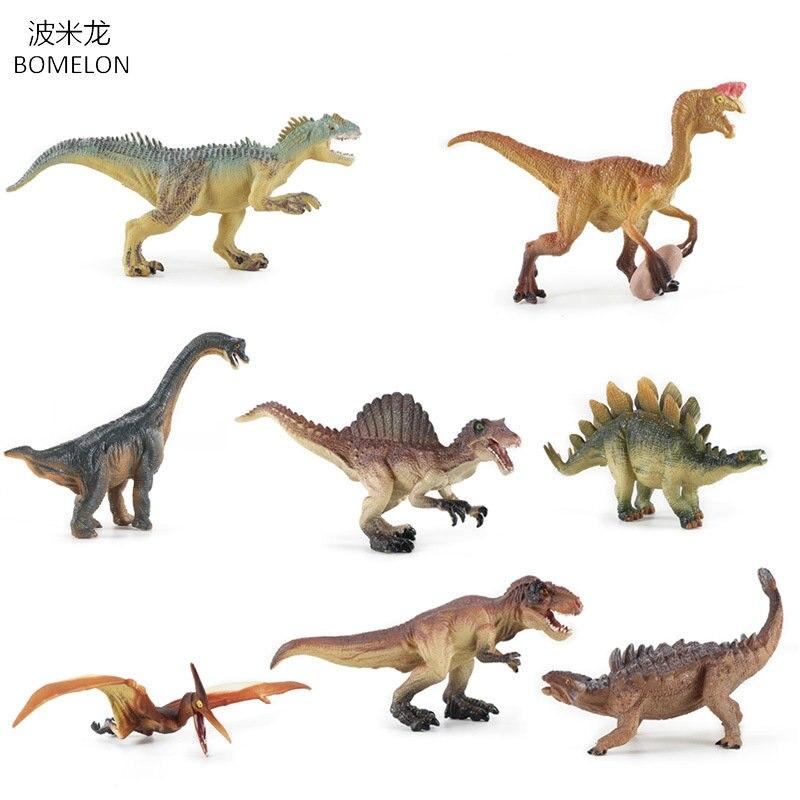 8 шт./компл. цельные игрушки динозавров из ПВХ, коллекционные динозавры, фигурки Oviraptor/Pteranodon/Животные, модель, игрушки для мальчиков, подарки