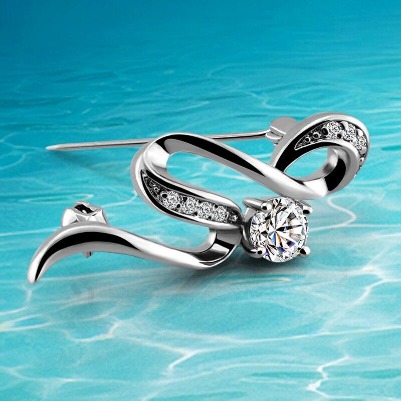 De las mujeres de la moda de plata broches de plata de la joyería de plata esterlina 925 broches para las mujeres
