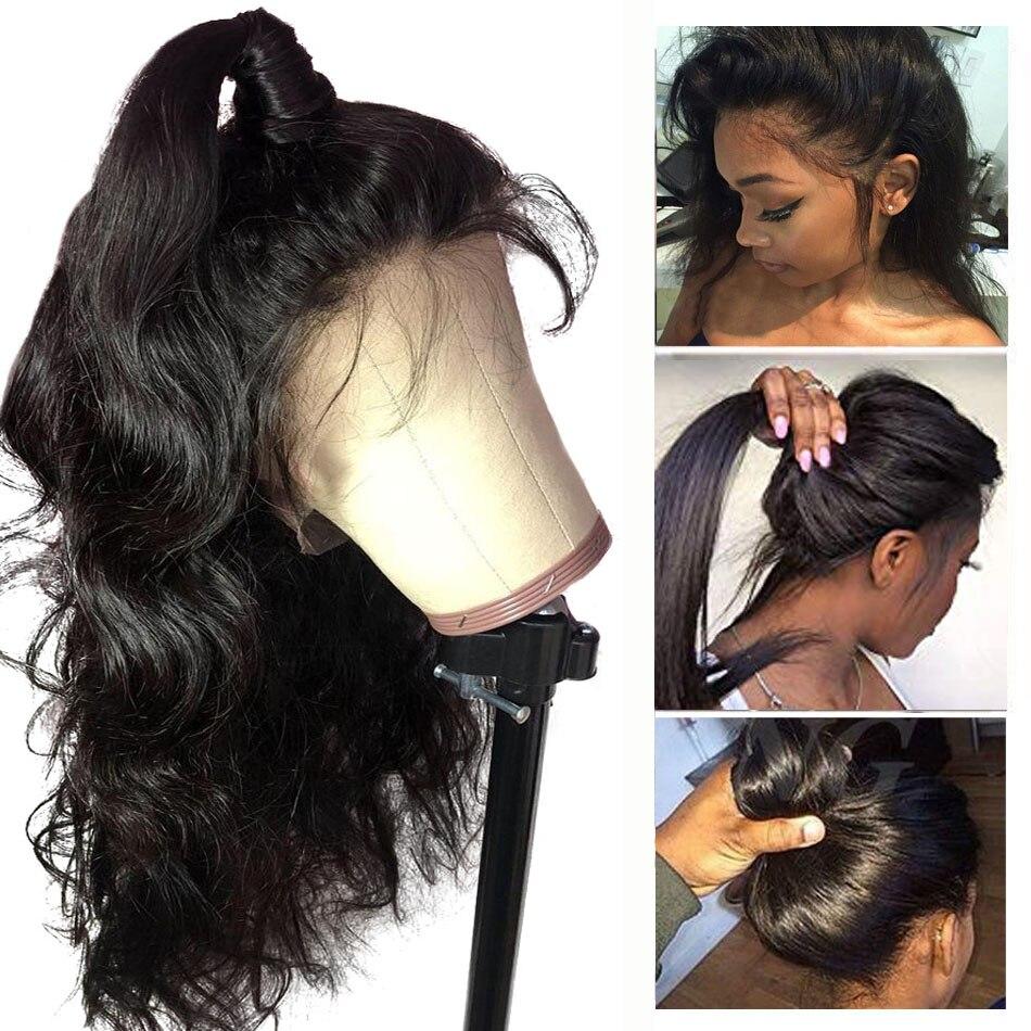Ossilee-باروكات شعر بشري مموج ، باروكات دانتيل ، شعر بشري كامل ، مع شعر الطفل ، ريمي