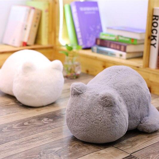 1 almohada de felpa de 33cm con diseño de gato Ashin, almohada rellena de gato con sombra en la espalda, juguetes de peluche, regalo para niños, decoración del hogar para Navidad