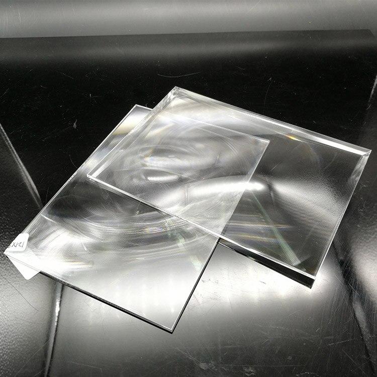 Lente de condensación de plástico PMMA rectangular de 38x35mm, longitud Focal de 50 mm para lupa de proyector, lente Solar