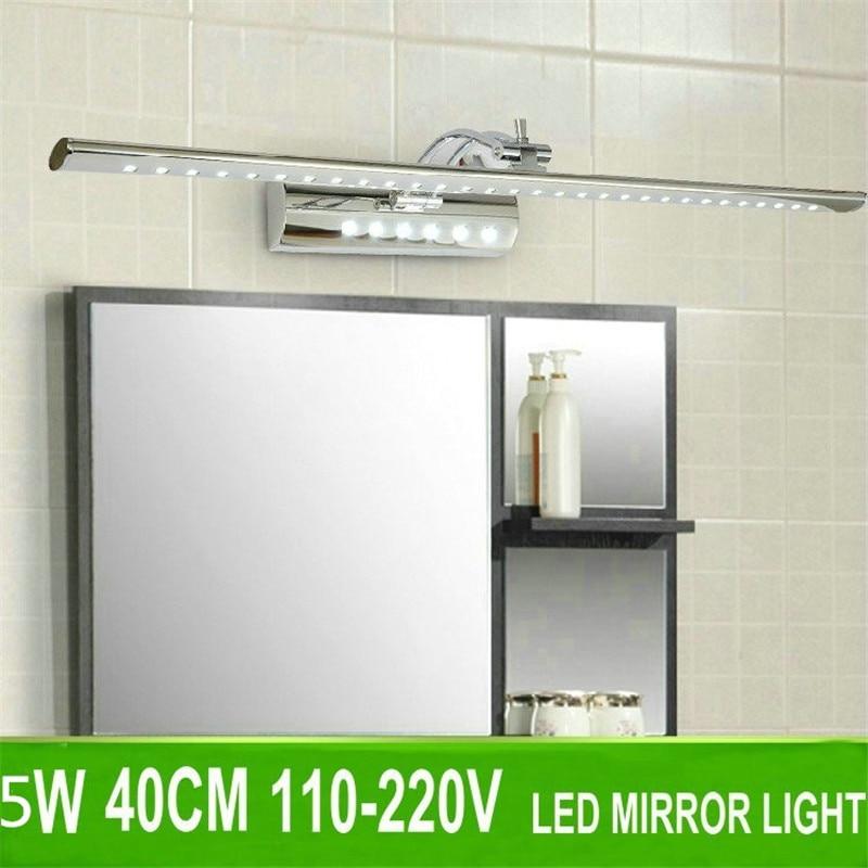 Moderno minimalista 5W 40cm LED espejo Mural de luces luz especial impermeable baño lámparas de vanidad gabinete LED lámpara cc-04