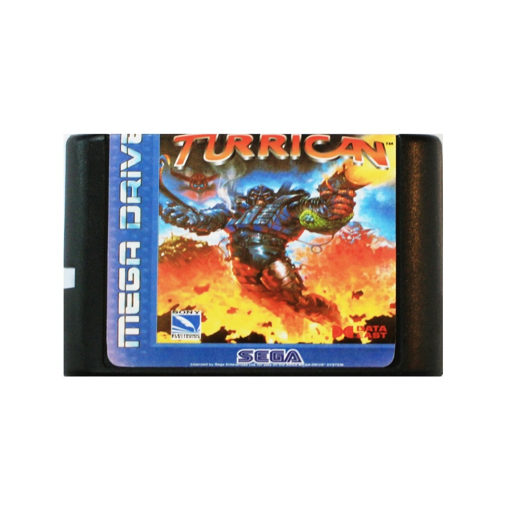 Mega Turrican 16 bit tarjeta de juego MD para Sega Mega Drive...