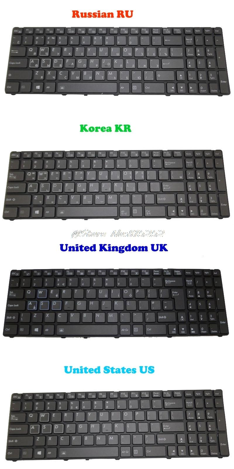 Клавиатура с подсветкой для Gigabyte P25K P25W V2 P25W-CF1 P25W-CF2 P25W-CF3 P25X V2 P25K-CF2 V111465ES1 Корея KR Русский RU Английский Великобритания