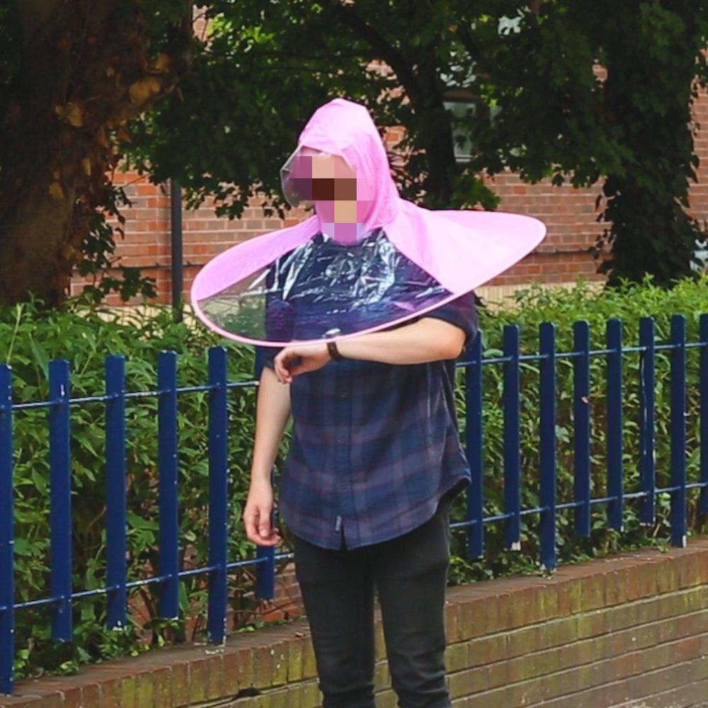 UFO adulto paraguas chaqueta impermeable Linda cubierta de lluvia impermeable 3 colores hombre mujer señora lluvia chaqueta al aire libre pesca Poncho capa