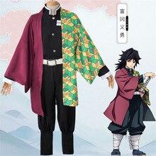 Anime Demon Slayer Kimetsu no Yaiba Cosplay disfraces Kamado Nezuko Kimono conjunto completo uniforme traje ropa