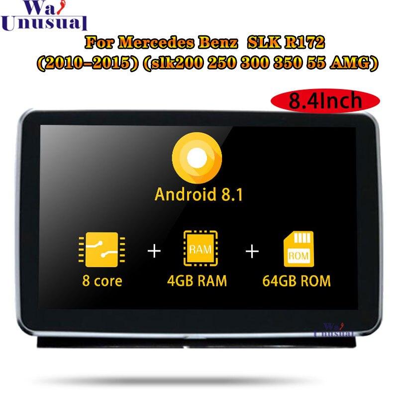 """Autoradio 8,4 """"Android 8,1 para Mercedes-Benz Clase SLK R172 (SLK 200 SLK 250, 300, 350, 55 AMG) 2010-2015 estéreo Radio de coche GPS de navegación"""