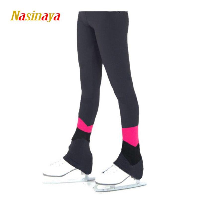 Personalizado Figura Patinação calças calças compridas para Menina Mulheres De Patinação No Gelo Competição do Treinamento Patinaje Lã Quente Ginástica 24