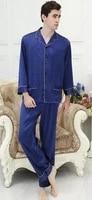 100 mulberry silk couple household to take heavy silk pajama super large size m xxxxl men