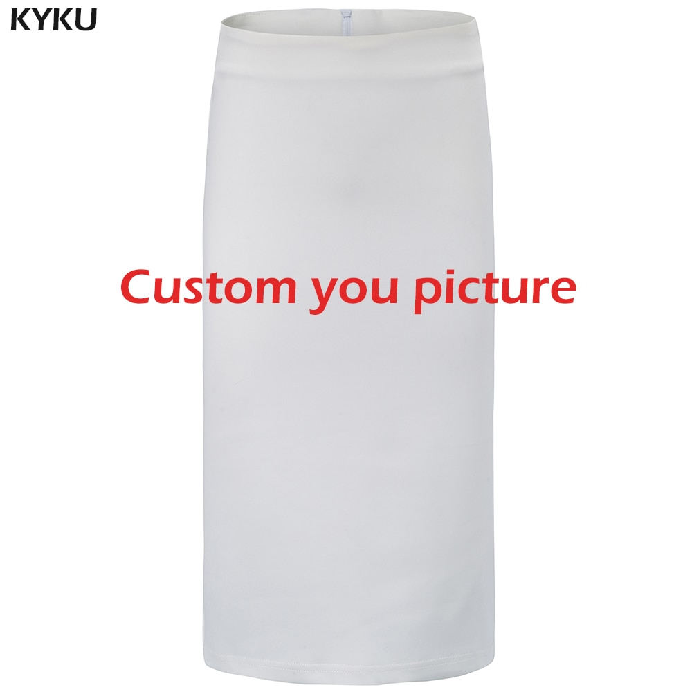 KYKU Customize Skirts Women DIY Your Photo Skirt 3d Custom Hip Hop Womens clothing Off Summer New 2019