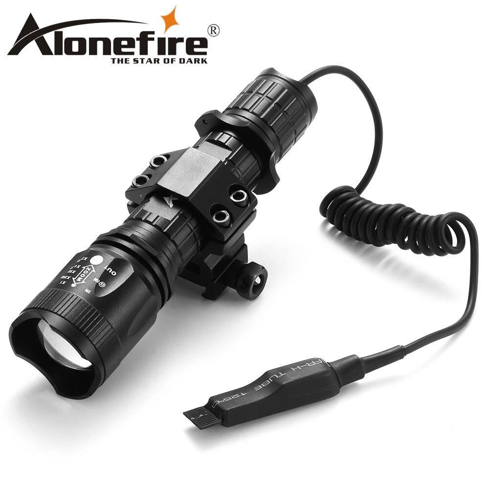 AloneFire TK400 XML L2 светодиодный Охотничий Тактический фонарь, светодиодный фонарик, переключатель давления, крепление, Охотничья винтовка, фонар...