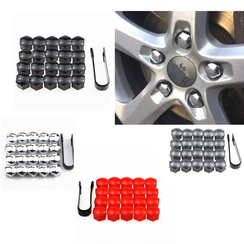20 piezas 17mm rueda tuerca Centro tapas + Herramienta de extracción para VW Golf Passat Cabrio Audi A1 A3 A4 Q5 Q7 TT estilo de coche