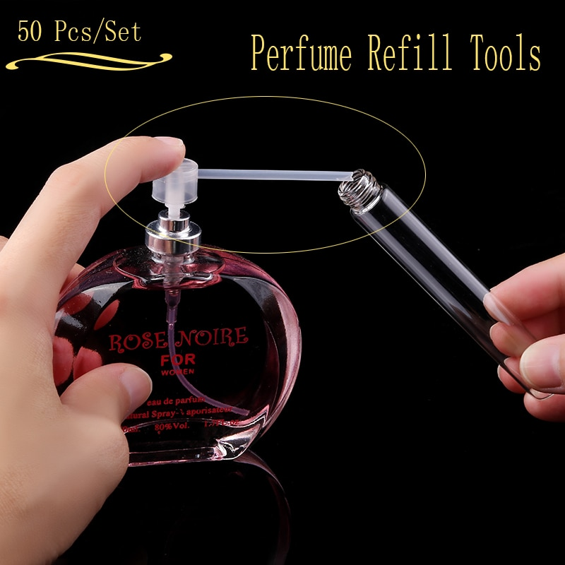 Ynzzio 50Pcs Perfume Refill Tools Diffuser Funnels Cosmetic Pump Dispenser Portable New