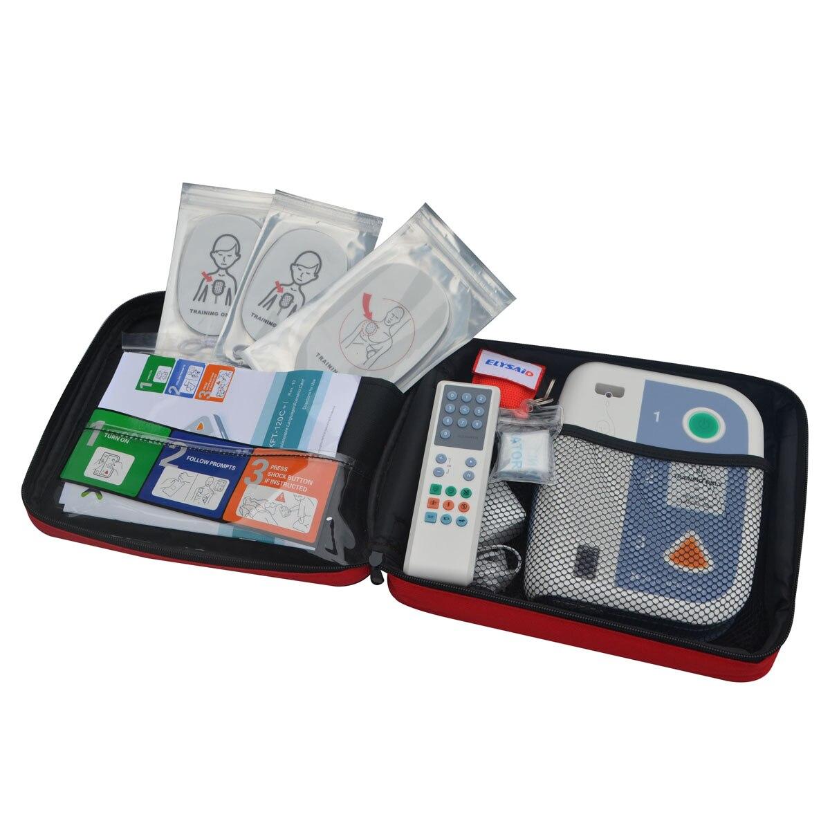 Entrenador de emergencia AED/desfibrilador de simulación + 2 uds CPR para uso de entrenamiento Unidad Clínica AED Dispositivo de primeros auxilios portugués en SA
