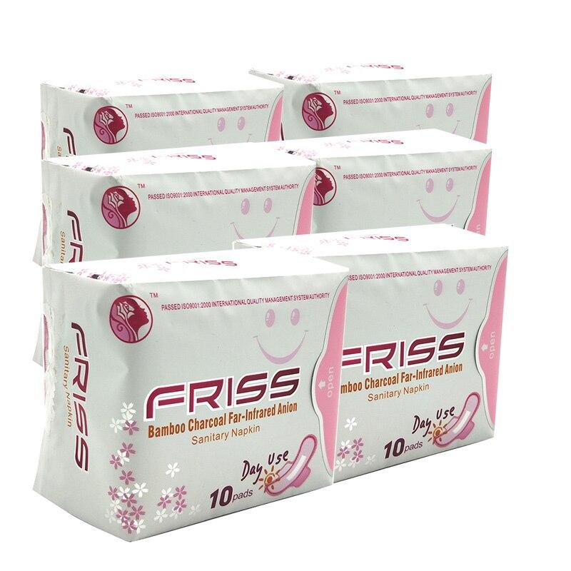 6 paquetes de almohadillas sanitarias de aniones menstruales producto de higiene femenina toalla sanitaria de algodón salud shuya anion forro de panty love