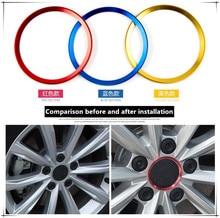 Estilo de coche de cubo de rueda de círculo para BMW X1 X2 GT F39 X3 G01 F25 E83 X4 G02 F26 X5 F85 F15 E70 X6 E46 E71 accesorios de coche