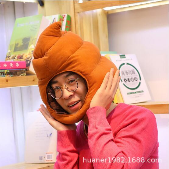 Japonês dos desenhos animados engraçado fezes fezes de chapelaria pelúcia da menina Da Foto do chapéu props brinquedos
