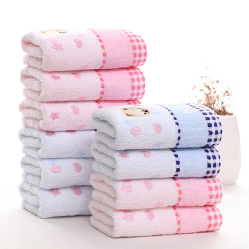 Cartoon Romantic Bear Towel Set Home Seaside Hotel Beach 100% Cotton For Kids Spa Bath Face Hand Soft Thick Towel asciugamani