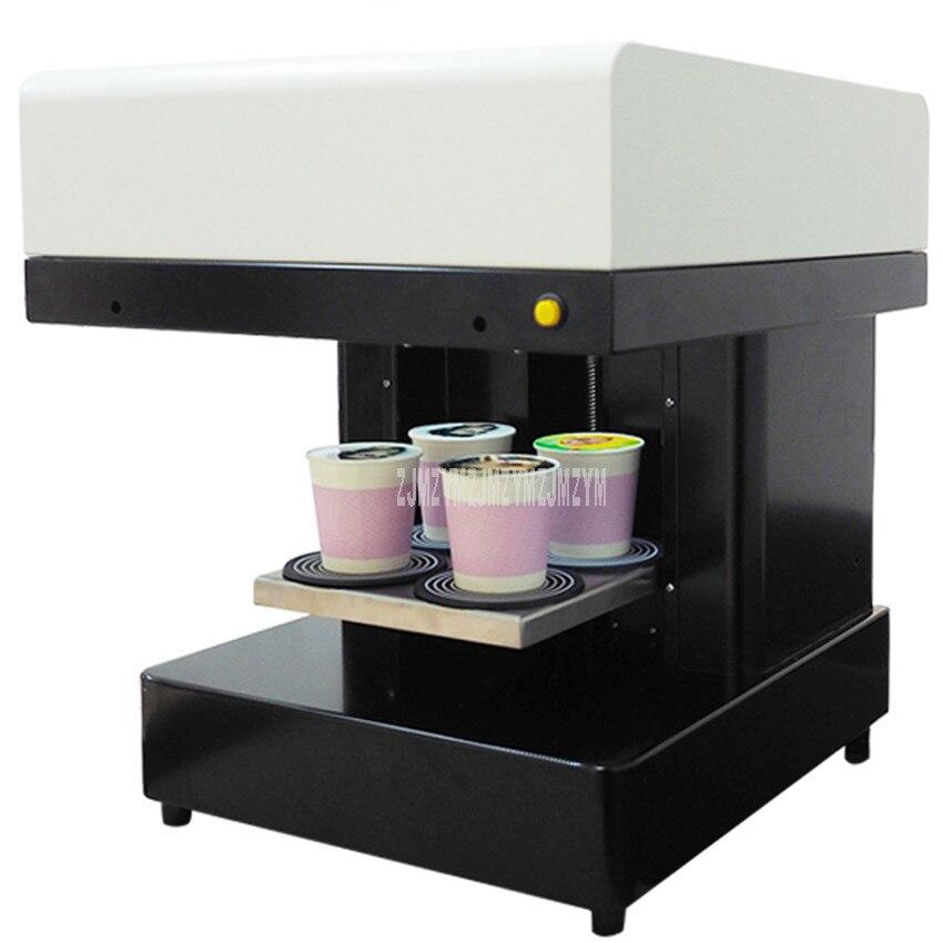 Impresora de bebidas de café de Arte de velocidad rápida 4 tazas Selfies impresora de café leche té torta de Yogurt máquina de impresión eléctrica 220 V /110 V 46 W