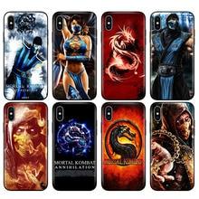 Black tpu case for iphone 5 5s se 6 6s 7 8 plus x 10 silicon cover for iphone XR XS 11 pro MAX Scorpion Sub Zero Mortal Kombat x