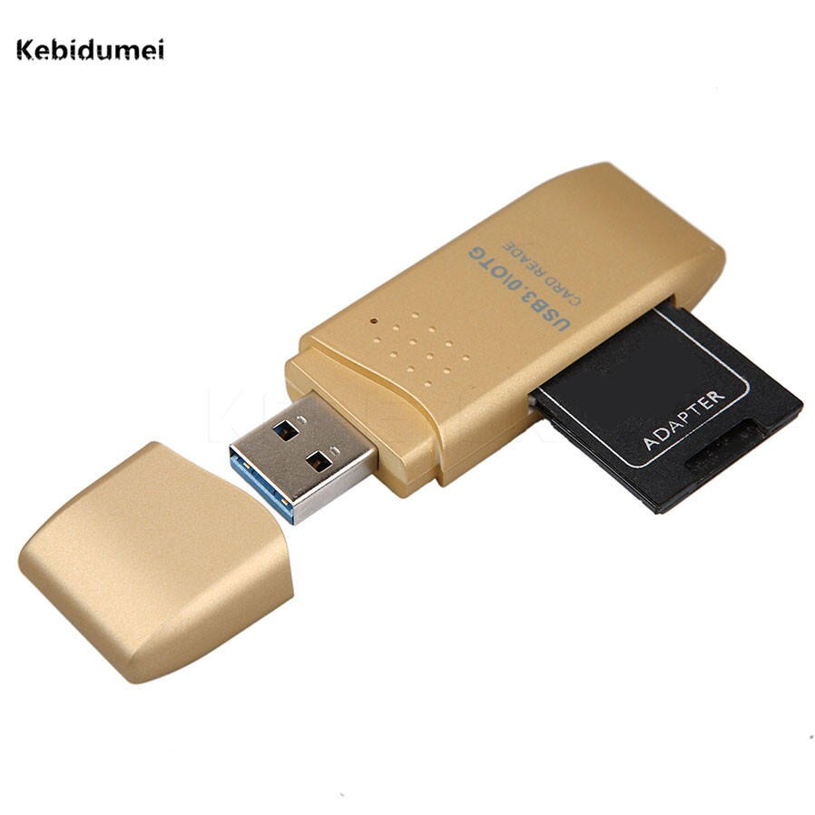 Kebidumei calidad superior MINI 5Gbps Super alta velocidad USB 3,0 Micro SD SDHC lector de tarjetas TF adaptador Mac OS Pro PC ordenador portátil