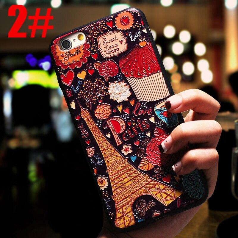 YuoTuo lujo 3d lindo teléfono coque, cubierta, caso para apple iphone6 6s iphone 6plus 6plus 6splus silicona flor Accesorios