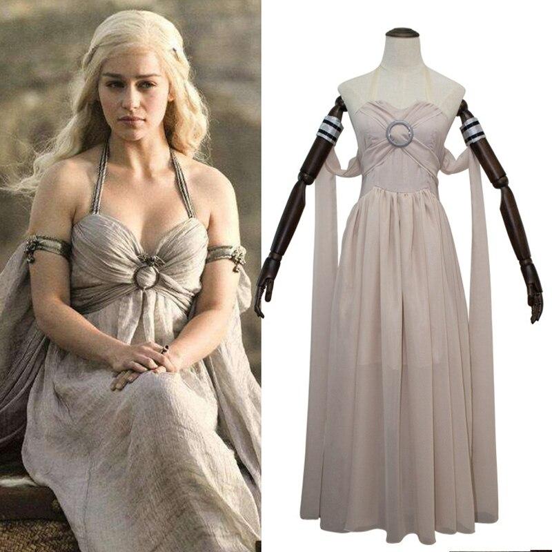 328 chrismas festa cosplay traje vestido feminino jogo dos tronos traje de halloween daenerys targaryen roupas para mulher