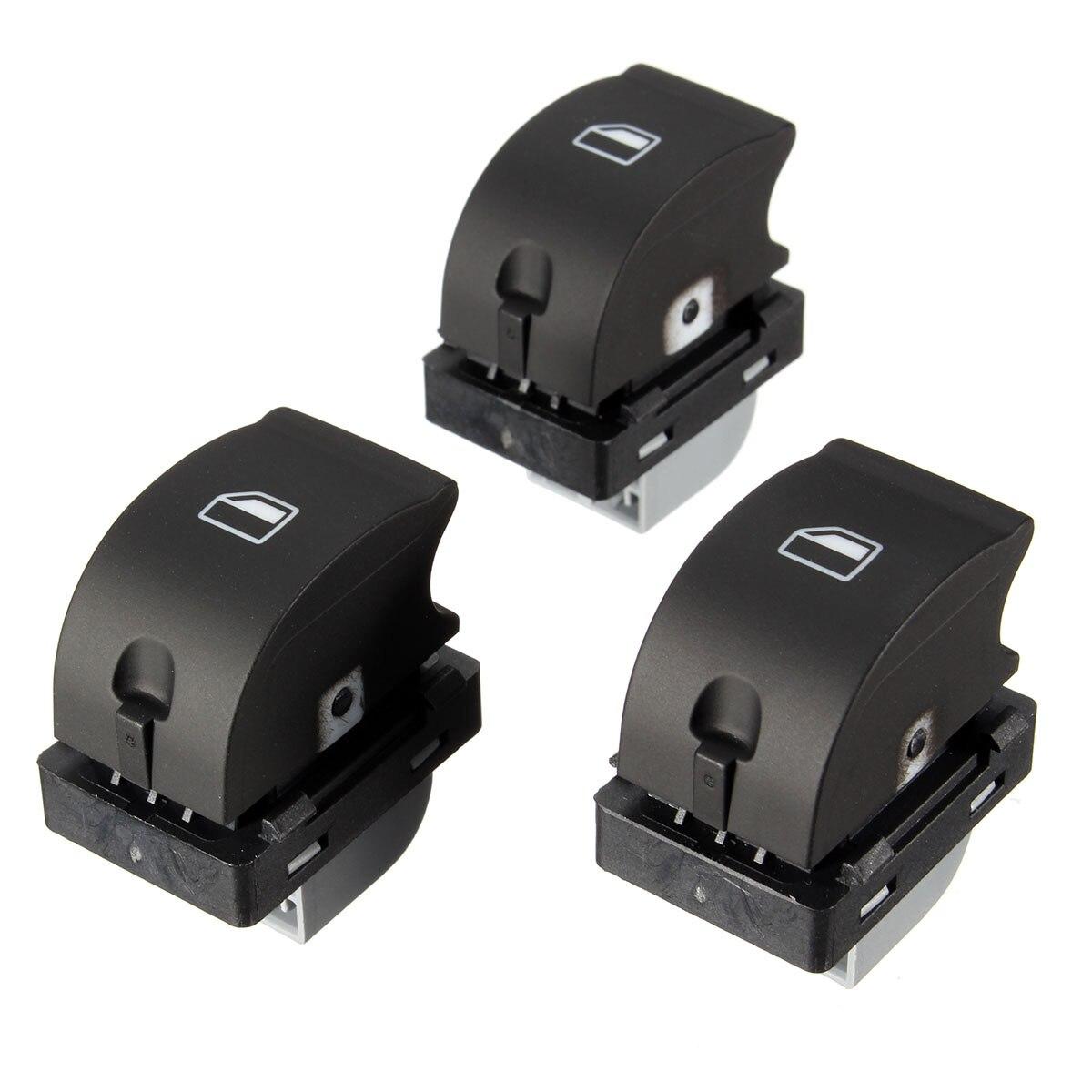 3pcs Car Passenger Window Switch for Audi A4 S4 B6 B7 8E0 959 855 / 8E0959855 Replacement Window Lift Control Button Switches