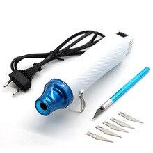 Pistolet à chaleur électrique outil électrique Air chaud 300 W pistolet de température avec siège de soutien rétractable en plastique FIMO Dinks passe-temps bricolage couteau à découper