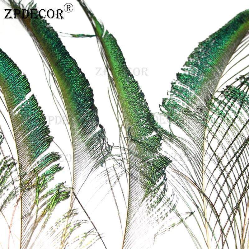 30-40CM pulgadas 12-16 bellamente espadas de pavo real cortar plumas naturaleza para DIY