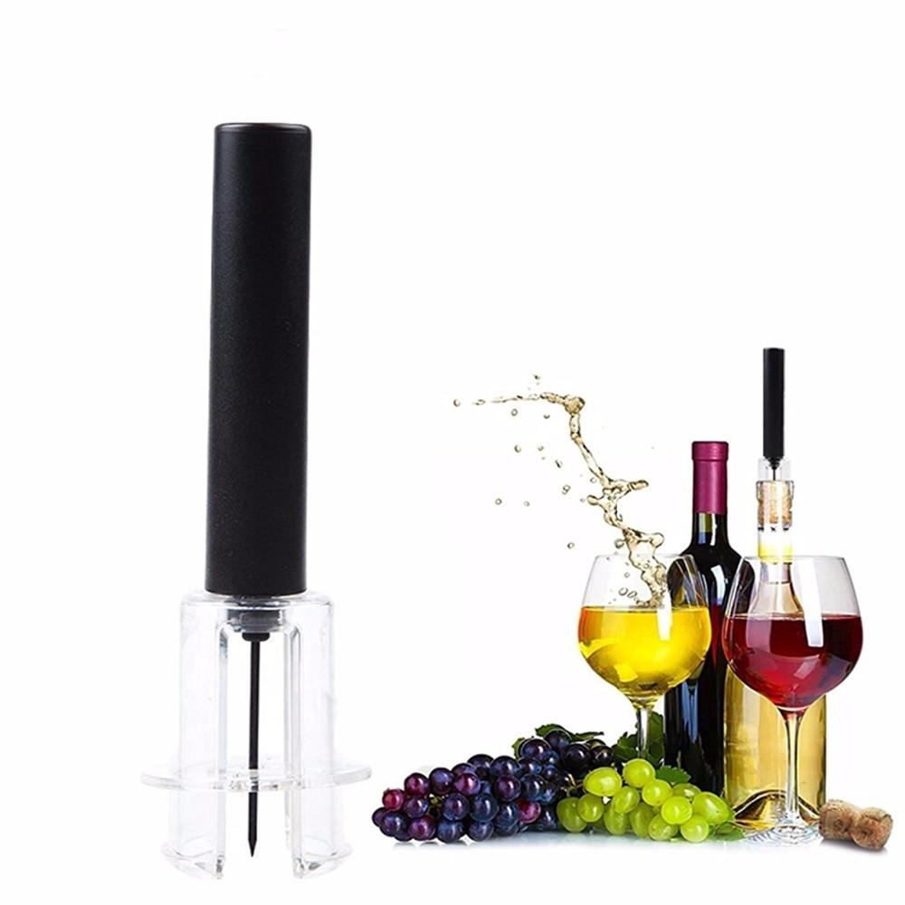 Abridor de vino tinto garrafa a presión de aire, acero inoxidable, tipo...