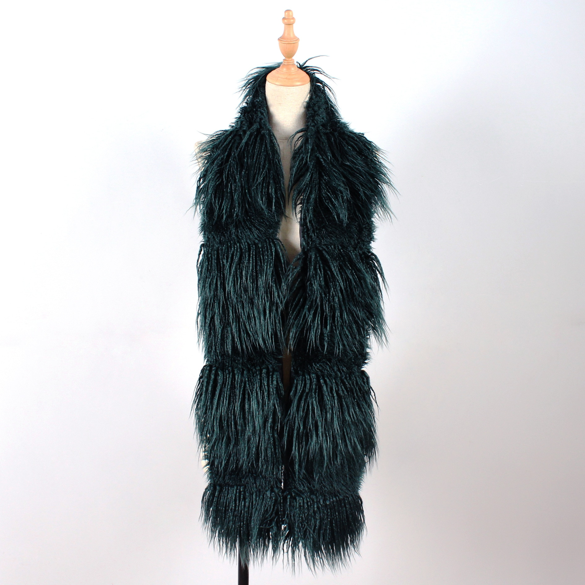 Lady Blinger faux sheep fur scarves long pile BOA warm winter fur scarves combination fur shawls and wraps