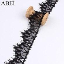 Cils noirs en dentelle 3yards/lot 5cm   Garnitures en tissu, matériel fait à la main, ruban de vêtement de couture, bricolage