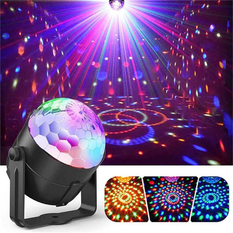 Luces de discoteca giratorias 3W RGB luces de escenario LED para Navidad hogar KTV Navidad boda Show Pub