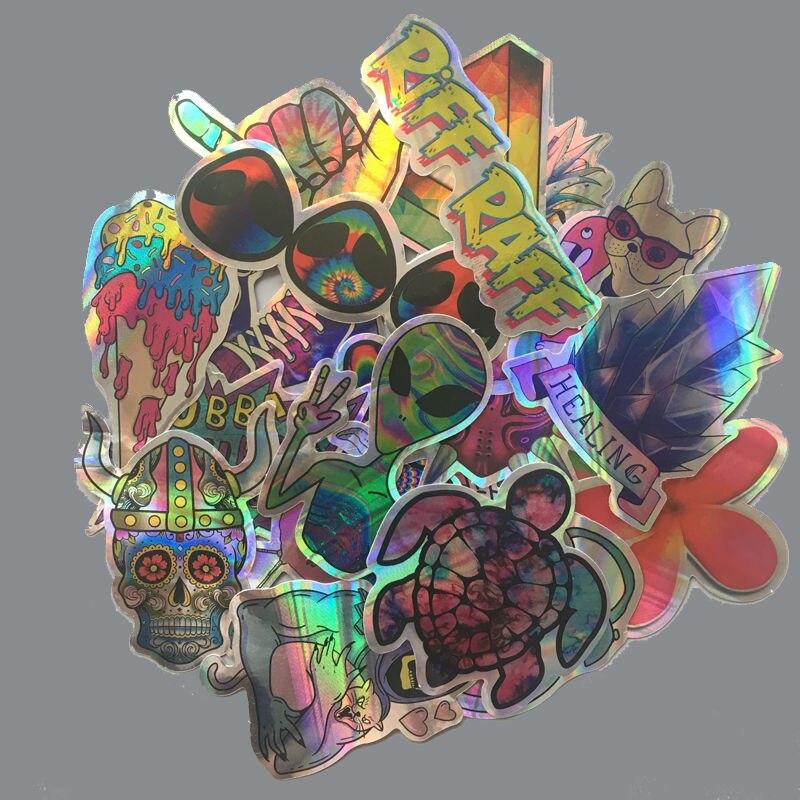 20 unids/lote pegatinas de alienígena ET de dibujos animados, divertido equipaje a prueba de agua, portátil, motocicleta, monopatín, pegatinas de grafitis Flash para teléfono