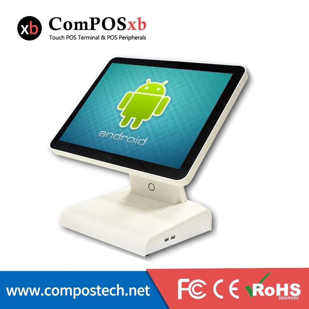 Nuevo sistema Android, máquina POS con VFD y WIFI para restaurante, venta al por menor, punto de venta, pc todo en uno POS6615