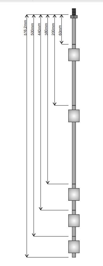 5 الكرة العائمة الفولاذ المقاوم للصدأ مستوى التحكم التلقائي التبديل الاستشعار مخصصة المنتجات رابط