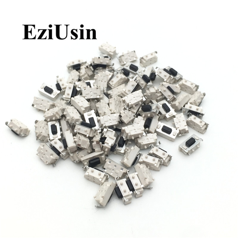 EziUsin 100 Uds microinterruptor táctil 3*6*3,5 3x6x3,5 SMD para MP3 MP4 Tablet PC botón Bluetooth auricular Control remoto