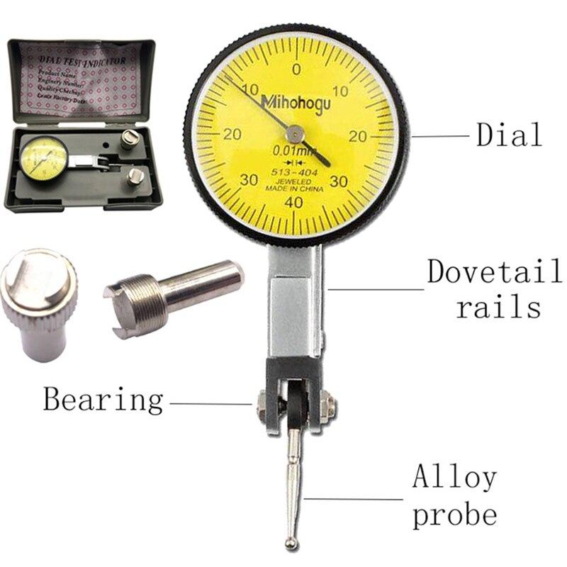 Точный измерительный индикатор с точным циферблатом точный метрический индикатор с фиксацией рельсов ласточкин хвост 0-40-0 0,01 мм универсальный измерительный инструмент